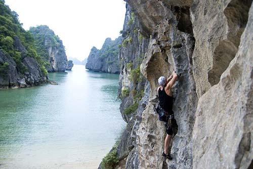 Với những du khách ưa mạo hiểm và muốn chinh phục những thử thách thì việc leo núi là một trong những trải nghiệm tuyệt vời. Cát Bà với địa hình đồi núi trù phú với những điểm leo núi nổi tiếng như: Đảo Đầu Bê, vách núi ở Bến Bèo, đảo Ba Trái Đào,… Đây đều là những nơi du khách có thể thỏa đam mê mạo hiểm của mình